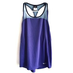 NIKE | Purple Blue Mesh Racerback Workout Tank Top